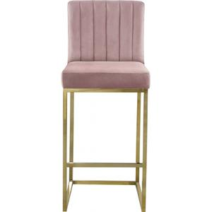 "Giselle Velvet Counter Stool - 16"" W x 19"" D x 37.5"" H"
