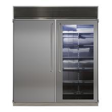 "See Details - MARVEL Professional 72"" Built-in Side-by-Side Refrigerator/Freezer"
