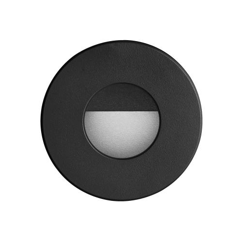 Black Round In/outdoor 3w LED Wall Light
