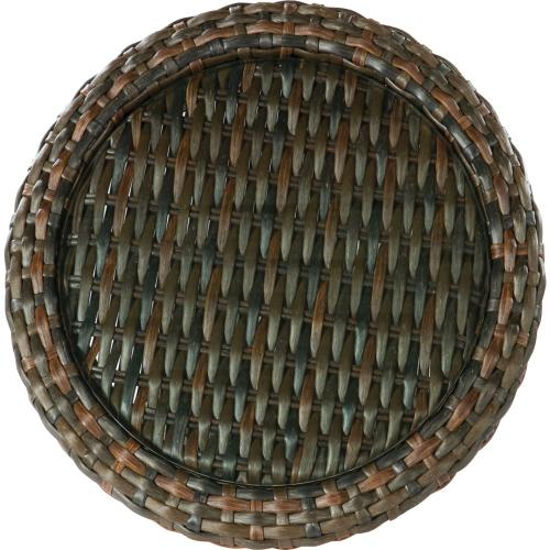 South Hampton Round Woven End Table
