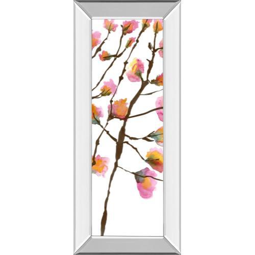 """Inky Blossoms Il"" By Deborah Velasquez Mirror Framed Print Wall Art"