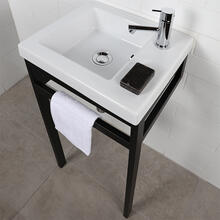 Floor-standing console stand with a towel bar (Bathroom Sink 5271 sold separately). It must be attached to wall.