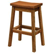 "Saddle Counter Stool - 24"" high - Standard Fabric"