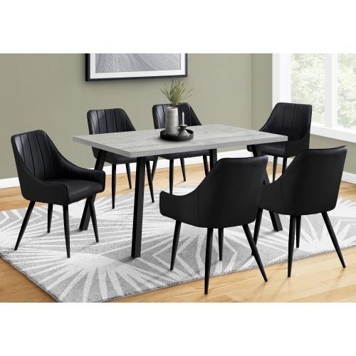 "Gallery - DINING TABLE - 36""X 60"" / GREY / BLACK METAL"