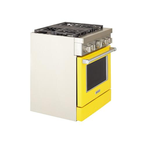 KitchenAid® 30'' Smart Commercial-Style Dual Fuel Range with 4 Burners - Yellow Pepper