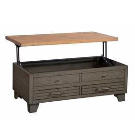 Bear Creek Lift-Top Cocktail Table, Brown