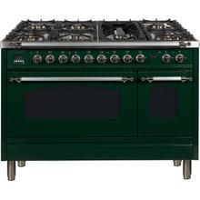 48 Inch Emerald Green Dual Fuel Liquid Propane Freestanding Range
