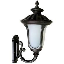 2 Light Exterior Light in Black Finish