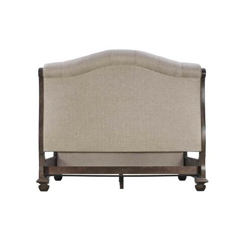 Vintage Salvage Lanza Upholstered Tufted King Bed