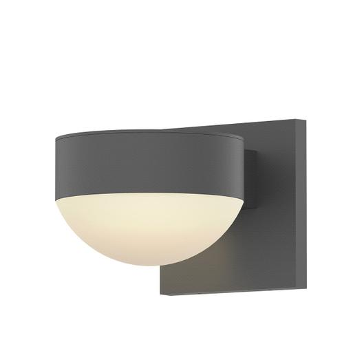 Sonneman - A Way of Light - REALS® Downlight LED Sconce [Color/Finish=Textured Gray, Lens Type=Place Cap and Dome Lens]