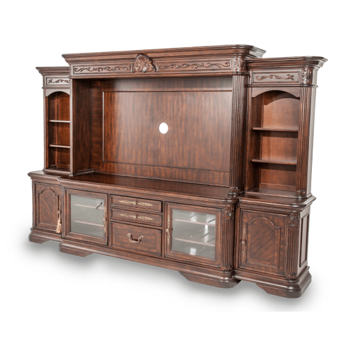 Entertainment Unit w/Side Piers (4 pc)