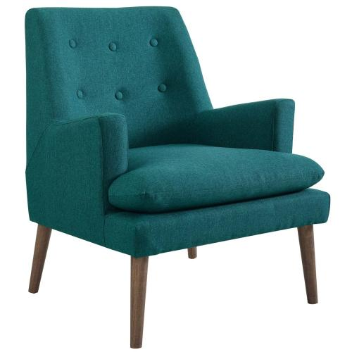 Leisure Upholstered Lounge Chair in Teal