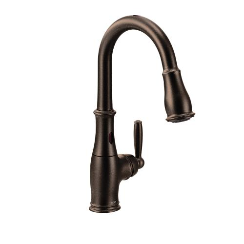 7185eorb In Oil Rubbed Bronze By Moen In Essex Junction Vt Brantford Oil Rubbed Bronze One Handle High Arc Motionsense Pulldown Kitchen Faucet