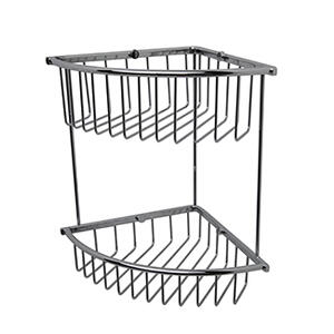 Essentials Corner Double Wire Soap Basket, Large Product Image