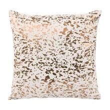 View Product - Leather Speckled Gold Pillow