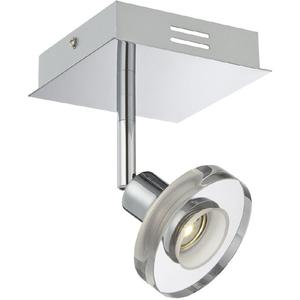 LED Wall Lamp, Chrome/clear Glass Shade, Type LED 3wx1