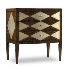 Three-Drawer Diamond Motif Chest-Floor Sample-**DISCONTINUED**