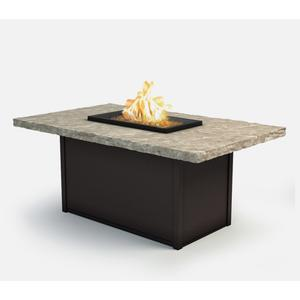 """36"""" x 60"""" Rectangular Chat Fire Pit Ht: 24.5"""" Aurora Aluminum Base (Indicate Top & Frame Color)"""