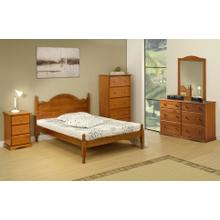 View Product - 1444 - 100% Solid Wood Reston Full Bed, Honey Pine