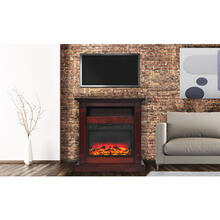 See Details - Cambridge Sienna 34 In. Electric Fireplace w/ Enhanced Log Display and Cherry Mantel, CAM3437-1CHRLG2