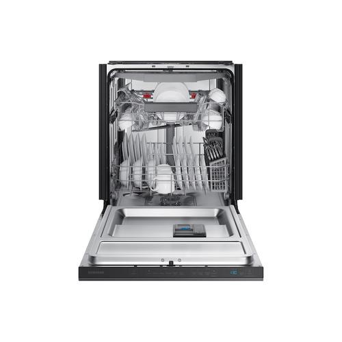 Samsung - StormWash™ 42 dBA Dishwasher in Black Stainless Steel