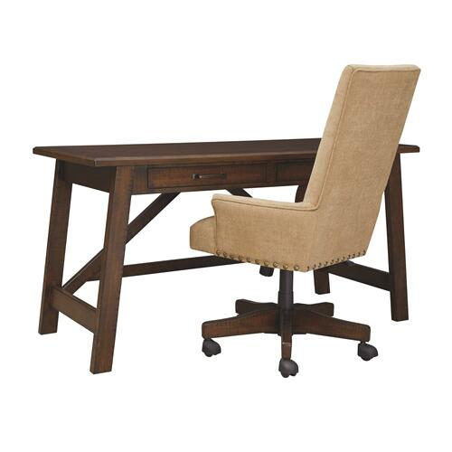 Upholstered Swivel Desk Chair