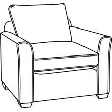 Charleston Chair with Wood Feet