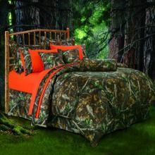 7 PC Oak Camo Comforter Set - Queen