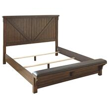Lakeleigh King Panel Bed With Upholstered Bench