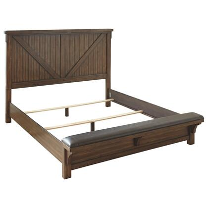 See Details - Lakeleigh Queen Panel Bed With Upholstered Bench