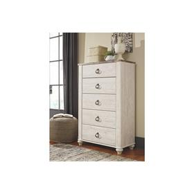 Willowton Five Drawer Chest Whitewash