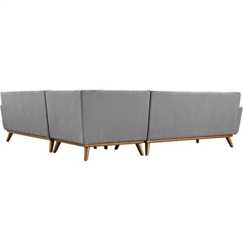 Engage L-Shaped Sectional Sofa in Expectation Gray