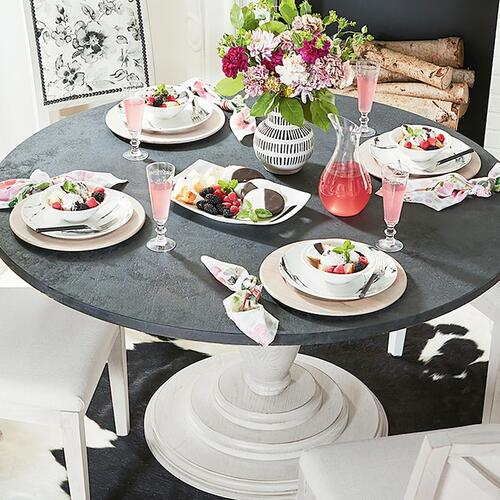 "Custom Dining 54"" Copper Table w/Atlas Tall"