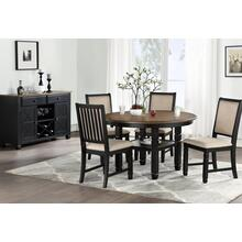 Prairie Point Round Counter Table W/shelves