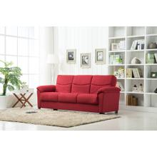 Urban Fabric Storage Sofa Bed In Red