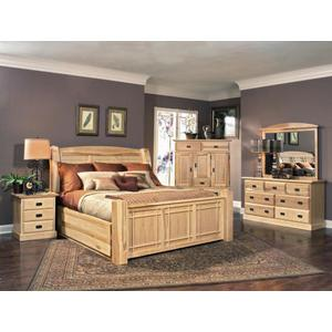 A AmericaKing Arch Storage Bed