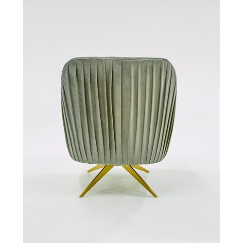 Divani Casa Abigail Modern Grey Velvet Swivel Accent Chair