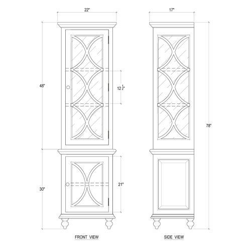 Hamilton Display Cabinet Narrow