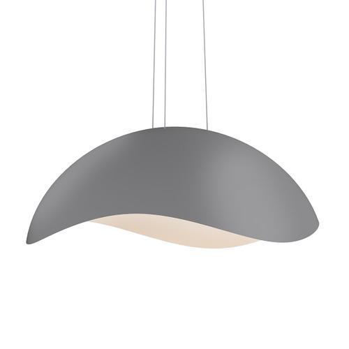 Sonneman - A Way of Light - Waveforms Dome LED Pendant [Size=Large, Color/Finish=Dove Gray w/Satin White Interior]