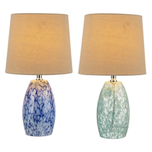 Blue & White Art Glass Accent Lamp. 40W Max. (Each One Will Vary). (4 pc. ppk.)