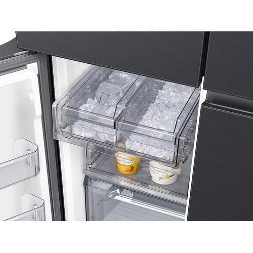 23 cu. ft. Smart Counter Depth BESPOKE 4-Door Flex™ Refrigerator with Customizable Panel Colors in Matte Black Steel