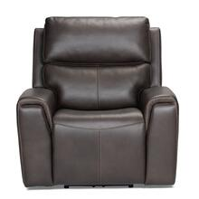 See Details - Leather Power Recliner with Power Headrest