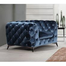 Divani Casa Delilah Modern Blue Fabric Chair