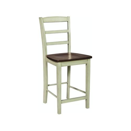 Madrid Stool in Almond & Espresso