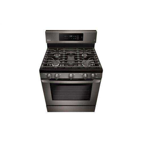 LG - 5.4 cu. ft. Gas Single Oven Range with Fan Convection and EasyClean®
