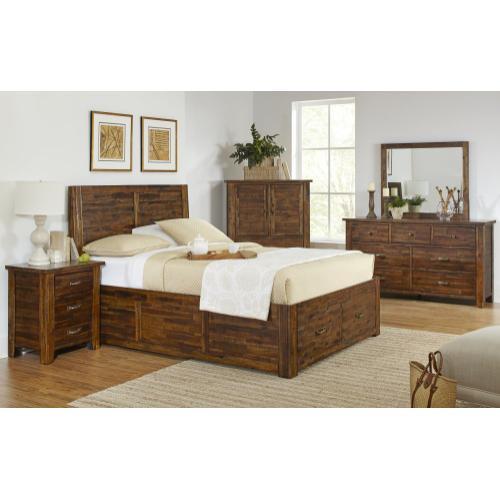 Sonoma Creek 4 Piece King Bedroom Set: Bed, Dresser, Mirror, Chest