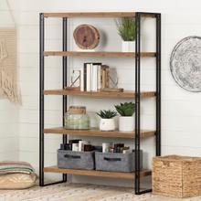 Gimetri - 5 Fixed Shelves - Shelving Unit, Bamboo