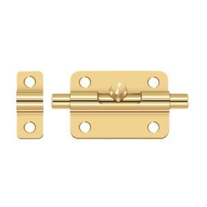 "Deltana - 3"" Barrel Bolt - PVD Polished Brass"