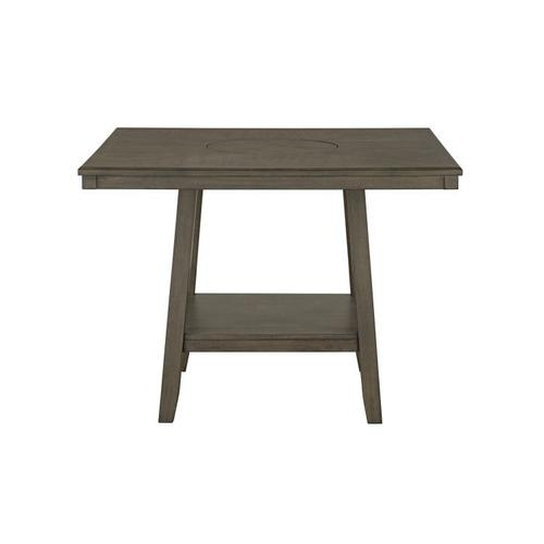 Standard Furniture - Halden Grey Counter Height Table with Lazy Susan, Grey