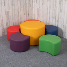 """See Details - Soft Seating Flexible Flower Set for Classrooms and Common Spaces - Assorted Colors (12""""H & 18""""H)"""